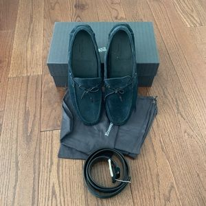 Ermenegildo Zegna Men's Moccasins and Belt Bundle